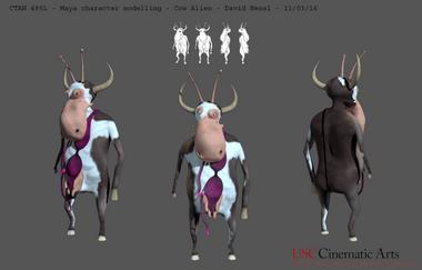 Cow Alien 3D character design