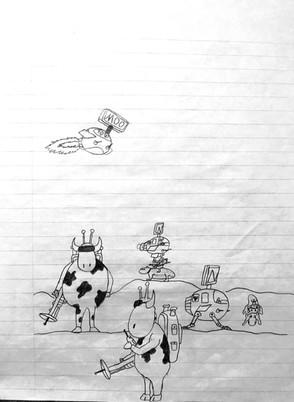 Cow Aliens Original Character Concepts