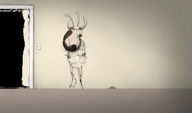 Cow Alien animation concept art