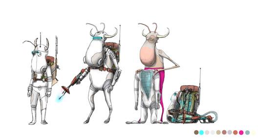 Cow Alien Trooper Concept