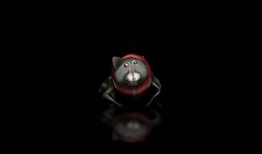 Raccoon abduction concept art