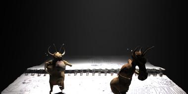 Cow Alien 3D previs