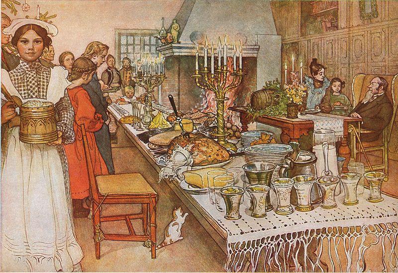 Carl Larsson The Christmas Eve