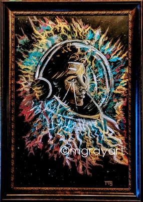 M. Gray. Cosmic Mother. Acrylic on Canva