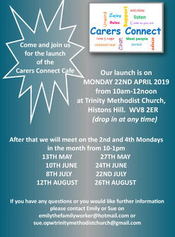 Carers Connect Launch  22nd April 2019 10am - 12noon