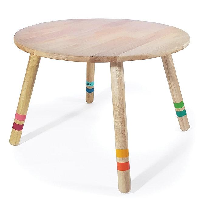 Παιδικό Τραπέζι  Διαμ 60εκ.  Μασίφ Ξύλο Κωδ:Τ2201