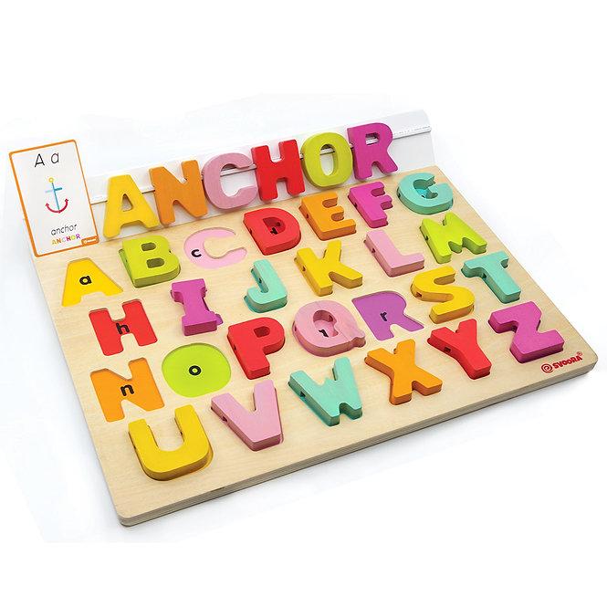 Εκπαιδευτικό Αγγλικό Ξύλινο Αλφάβητο   Κωδ:T03001