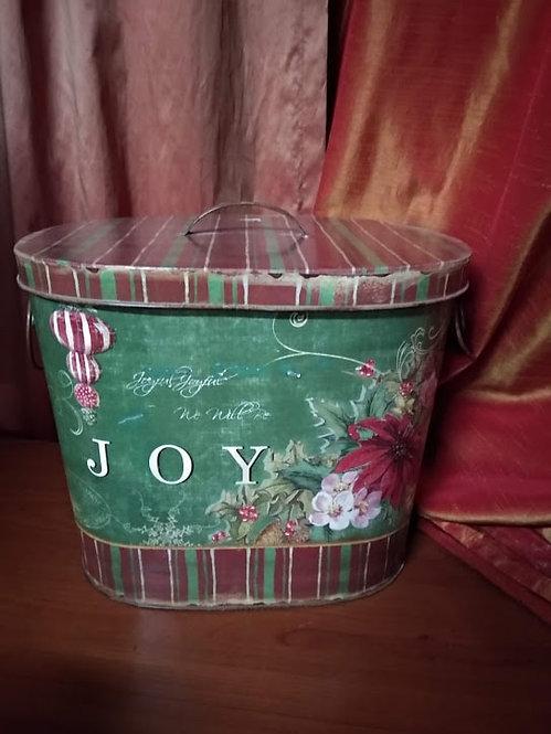 Χριστουγεννιάτικο μεταλλικό κουτί κωδ:L676