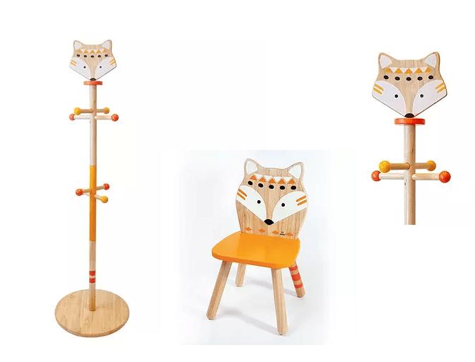 Σέτ «Αλεπού» Ξύλινος Καλόγεροςμε 1 καρέκλα  Κωδ:Τ220045