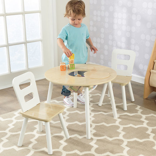 kidkraft Round Storage Table and Chair Set Κωδ.27027