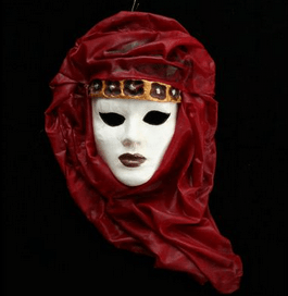 Χειροποίητη Βενετσιάνικη Μάσκα Mαντήλι