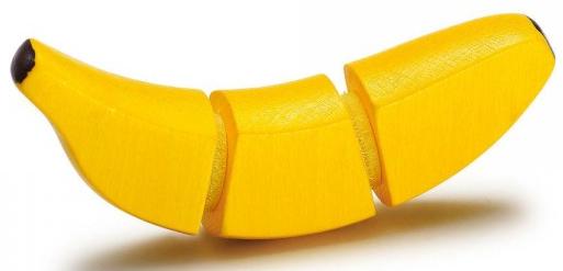 Ξύλινη μπανάνα κοπής κωδ.19367