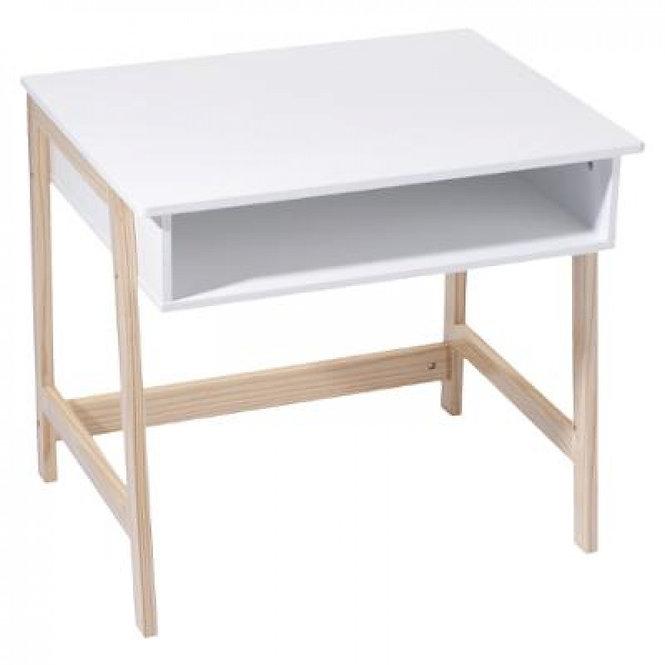 """Παιδικό Ξύλινο γραφείο """"με ξύλο και λευκό """"κωδ.J127242"""
