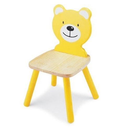 Καρέκλα παιδική Αρκουδάκι   Κίτρινη  κωδ.T47180