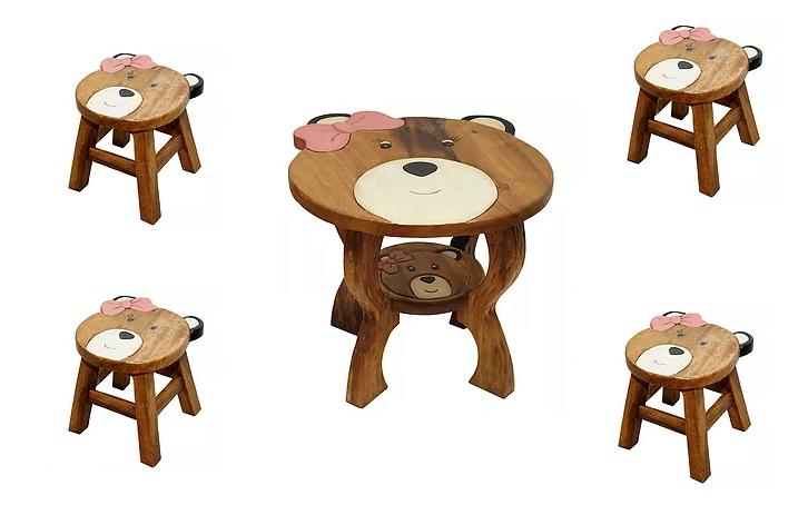Ζωγραφιστό τραπέζι με 4 σκαμπώ Κωδ.ZN1172T12