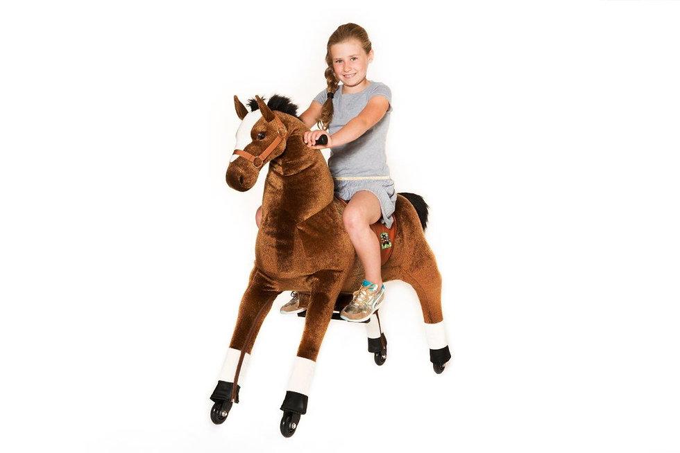 """""""Αστραπή"""" Μεγάλο Καφέ  Άλογο  Ιππασίας  κωδ.L9905"""
