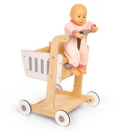 Ξύλινο καλάθι αγορών με παιδικό κάθισμα κωδ:TZ0185502