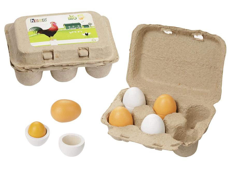 Βιολογικά ξύλινα αυγά 6άδα κωδ. 4864