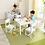 Thumbnail: Farmhouse Table & 4 Chairs - White Κωδ.21455