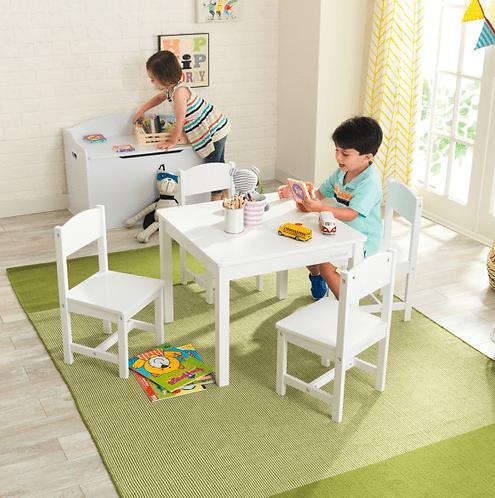 Farmhouse Table & 4 Chairs - White Κωδ.21455