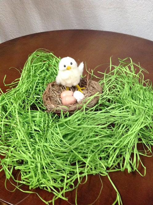 Διακοσμητική φωλιά μικρή κοτοπουλάκι-αυγουλάκια κωδ.PS186