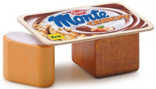 Ξύλινο γιαουρτάκι σοκολάτα-φουντούκι κωδ.17114