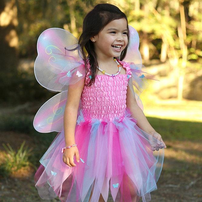 Στολή 'Ροζ Πεταλούδα' με φτερά και ραβδί 5-6 ετών Κωδ: Τ35915