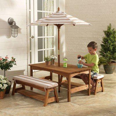kidkraft Outdoor Table Set Oatmeal Κωδ.0500