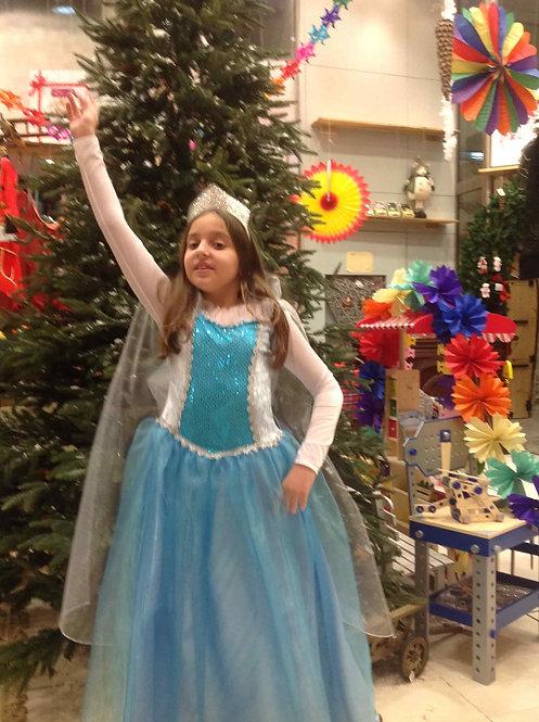 Στολή Έλσα 'Frozen' για 9 ως 11 ετών κωδ.Κ 300