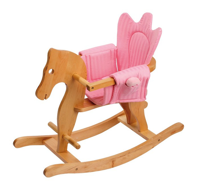Κουνιστό ξύλινο αλογάκι 2 σε1 με μουσική κωδ:P300