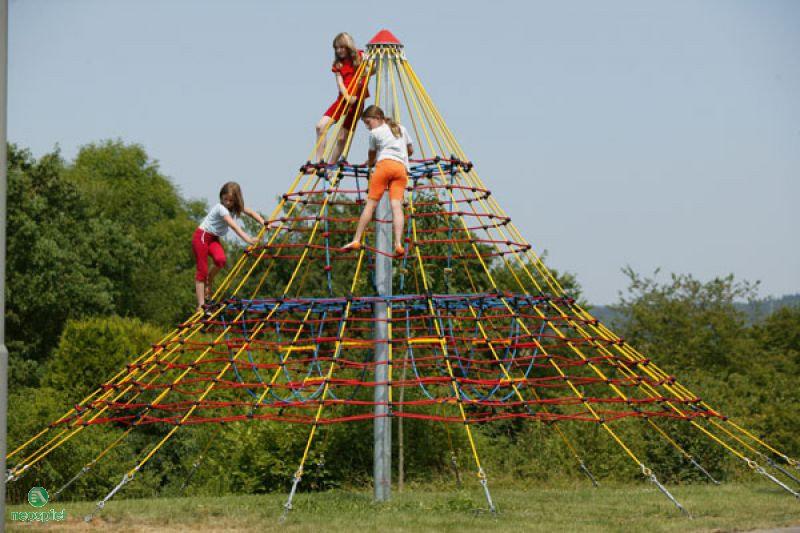 Big δικτυωτή πυραμίδα σχοινιού  Κωδ.BΗ5001
