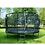 Thumbnail: Premium  Τραμπολίνο  πολυτελές δίχτυ ασφαλείας -ø 253εκ. μαύρο κωδ.EX08200800