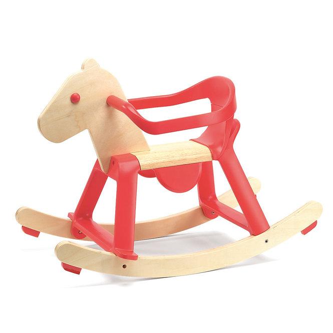 Κουνιστό  ξύλινο άλογο με προστατευτικό  κωδ:T0203