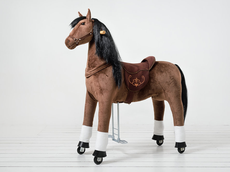 Εξαιρετικά  Μεγάλο Αλογάκι XL Ponnie ιππασίας 9-99 ετών Ύψος 133εκ. κωδ.HL5050
