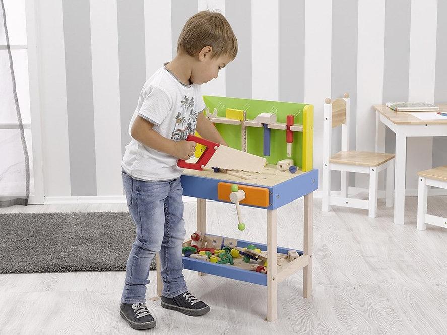 Ξυλουργείο παιδικό με 50 τεμάχια κωδ:4904