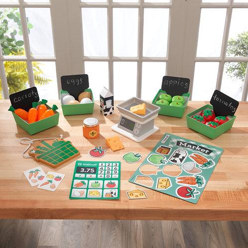 "kidkraft ""Farmer's Market Play Pack"" για εκμάθηση υγιεινής διατροφής Κωδ:53540"