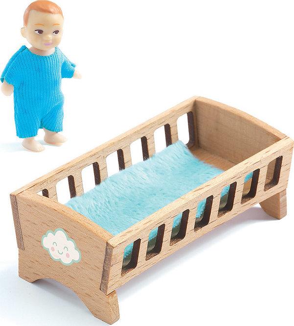 Djeco Κρεβατάκι με μωρό Κωδ:07834