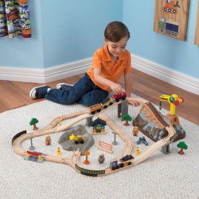 kidkraft Bucket Top Construction Train Set Κωδ.17805 τρένο worldfamilytime