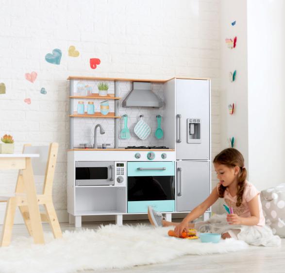 Gourmet Chef Play Kitchen with EZ Kraft Assembly™ Κωδ.53421, κουζινες,παιχνίδια,κουζίνα kidkraft