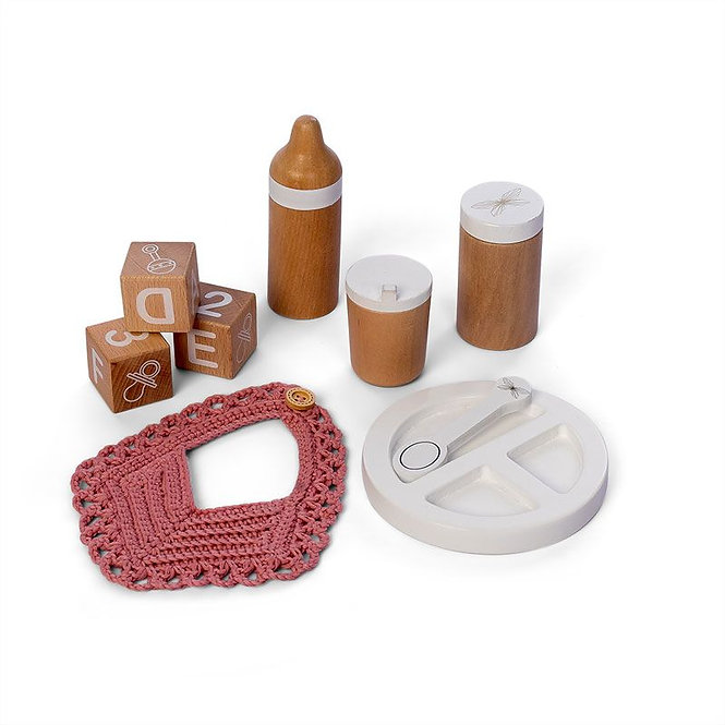 Σετ ξύλινων τροφών για κούκλες   κωδ: Τ0184196