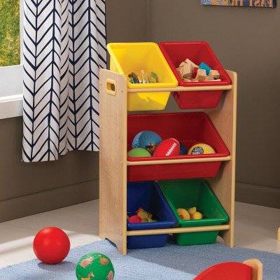 kidkraft 5 Bin Toy Storage Unit - Natural Κωδ.15472