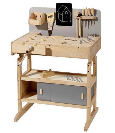 Μεγάλο ξυλουργείο από μασίφ σκληρό ξύλο   κωδ.WH14900