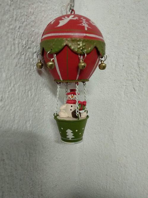 Κρεμαστό χριστουγεννιάτικο αερόστατο με ελατήριο κωδ:L648