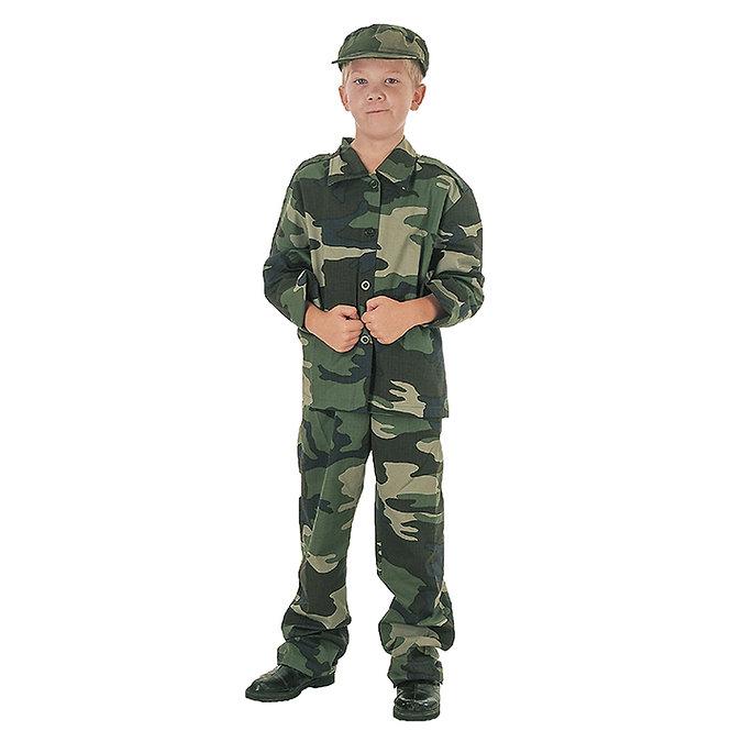 """Παιδική στολή """"Στρατιώτης"""" 7-10ετών κωδ:T3161"""