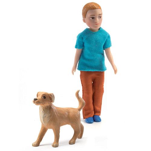 Κούκλα μπαμπάς με σκύλο
