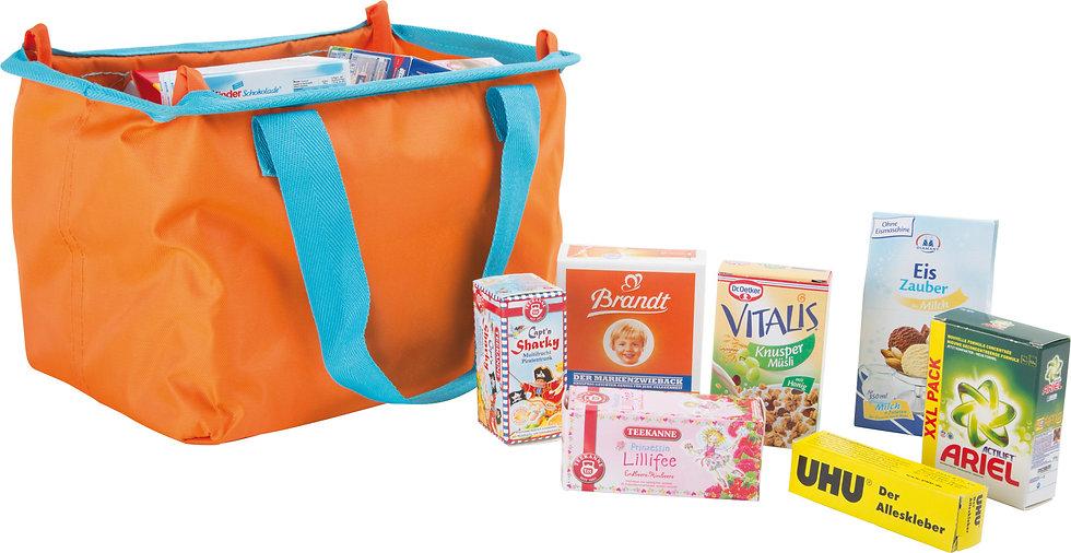 Καλάθι   τσάντα πορτοκαλί αγορών  Σούπερ Μάρκετ  κωδ..L9548