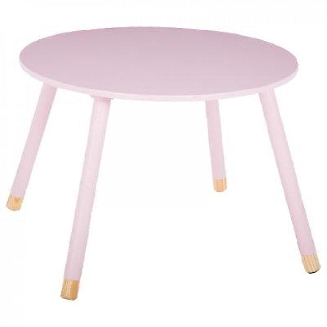 """Παιδικό Ξύλινο στρόγγυλο τραπέζι """"Ρόζ"""" κωδ.J127152"""
