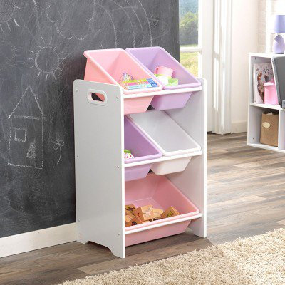 kidkraft 5 Bin Toy Storage Unit - White Κωδ.15473
