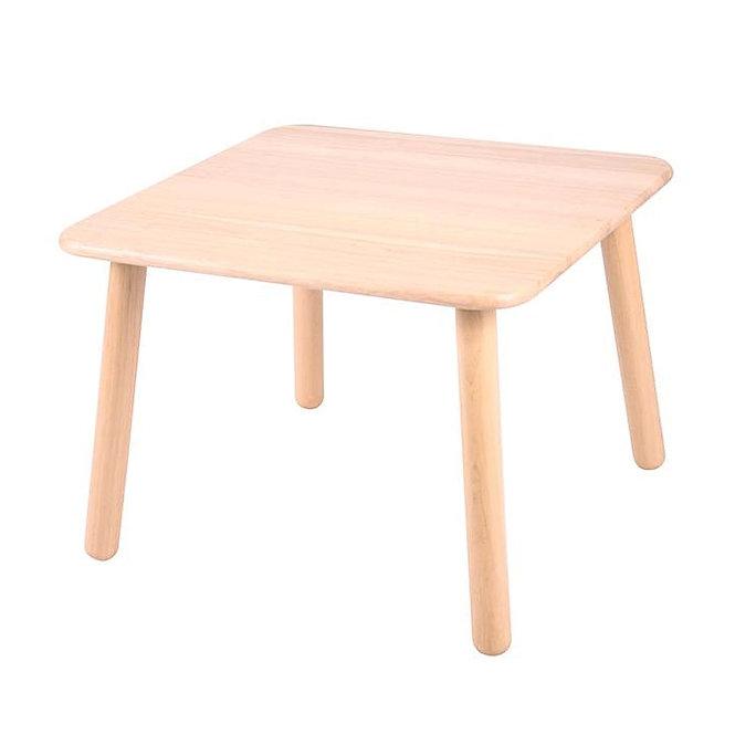Τραπέζι σε φυσικό χρώμα τετράγωνο Κωδ:Τ51030