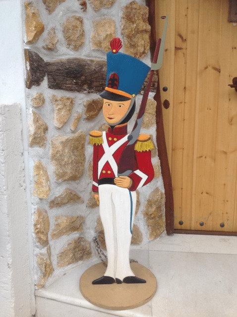 Ξύλινος Μολυβένιος Στρατιώτης με 2 πόδια κωδ.Μ804811